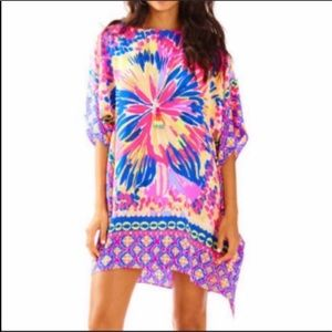 Lilly Pulitzer Julie silk captain at sunset